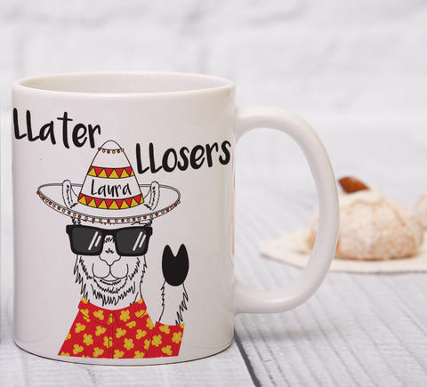 Personalised Llater Llosers Sublimation Mug