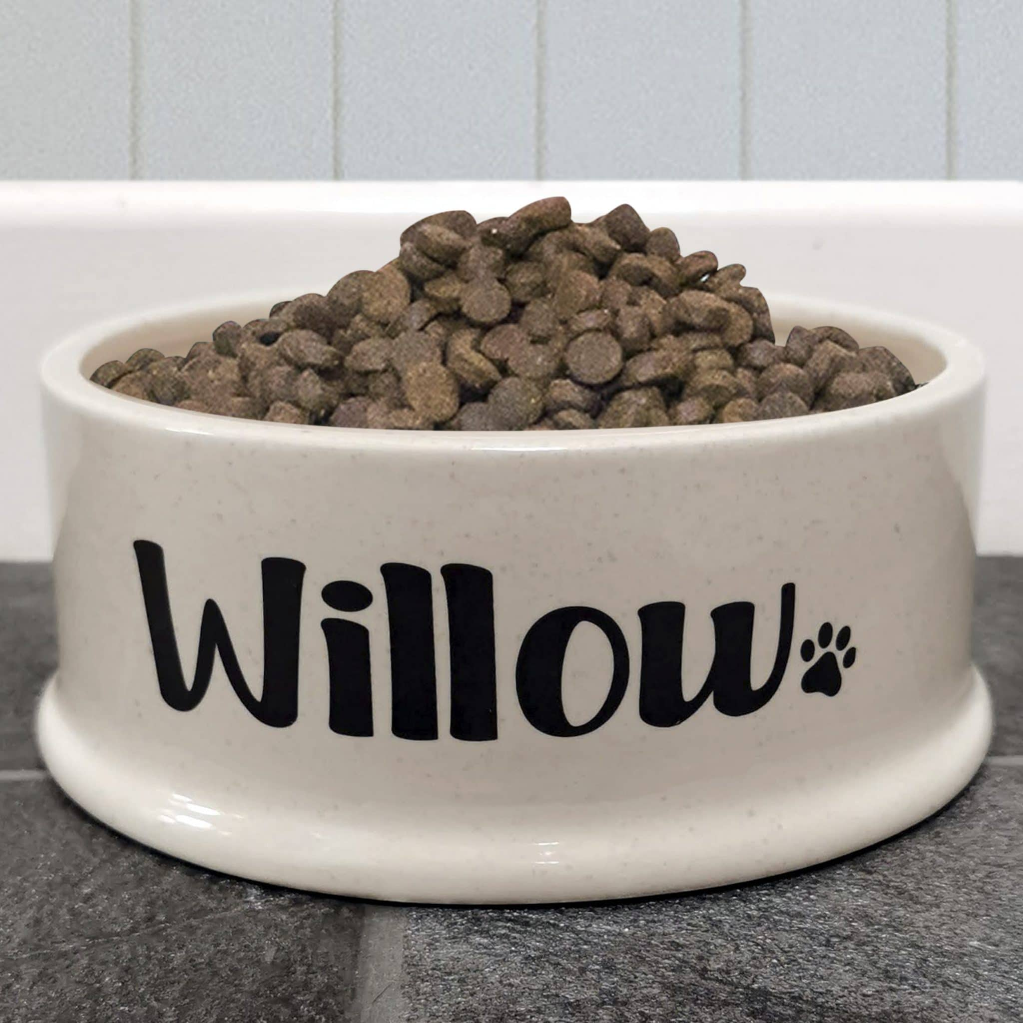 Large Oatmeal Ceramic Pet Bowl, Pet Bowls, Feeders & Waterers by Low Cost Gifts
