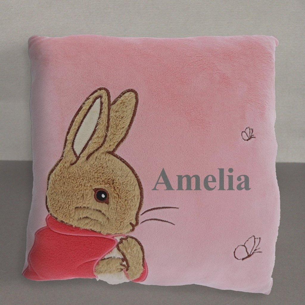 Personalised Peter Rabbit Flopsy Rabbit Cushion