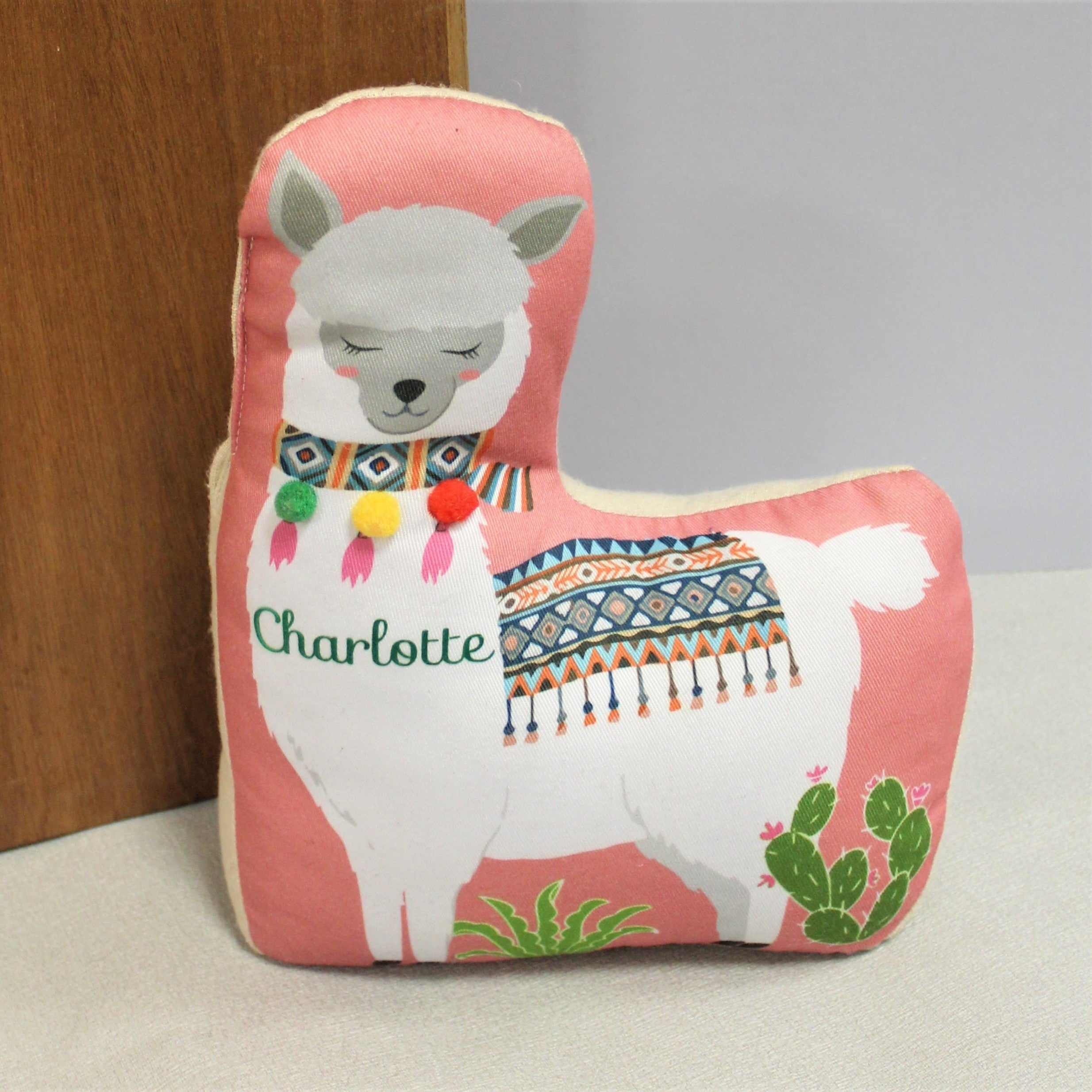 Personalised Pink Llama Doorstop, Building Materials by Gifts24-7