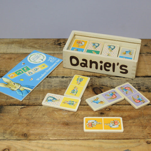 Personalised Peter Rabbit Wooden Dominoes