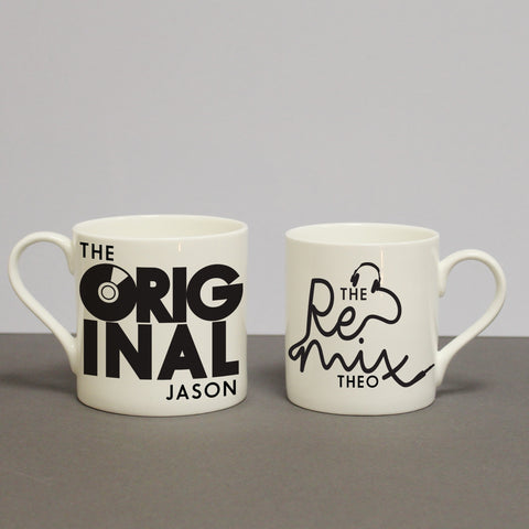 Personalised Original & Remix Mug Set