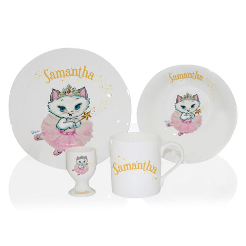Personalised Nina Fairy Breakfast Set