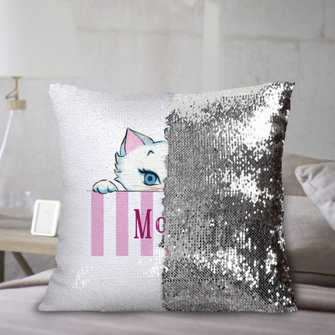 Nina Peeking Sequin Cushion