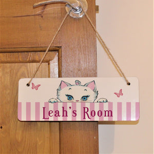 Nina Peeking Hanging Sign