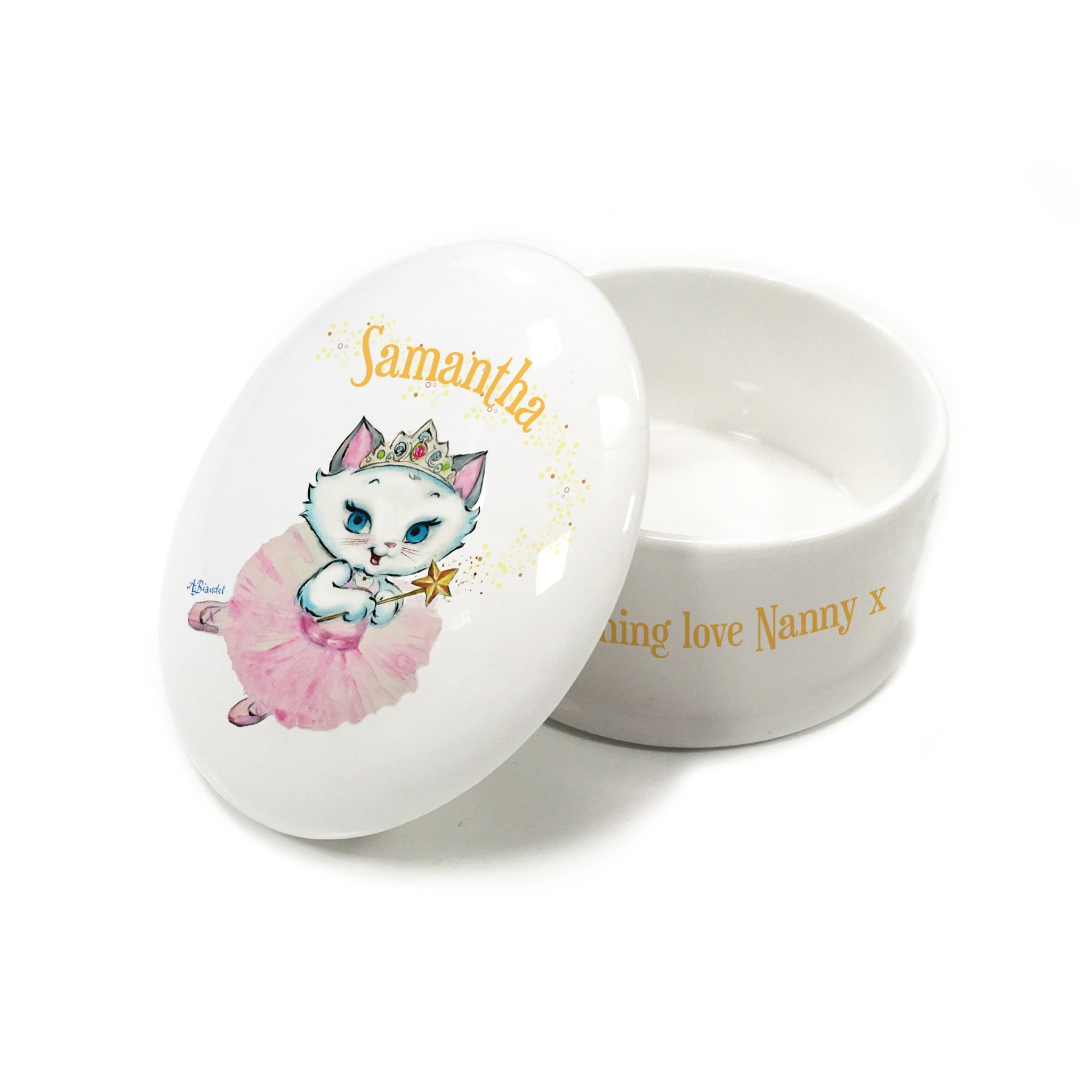Nina Fairy Bone China Trinket Box