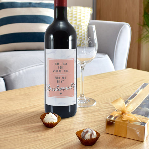 Personalised Can't Say I Do Without You Red Wine Gift Set
