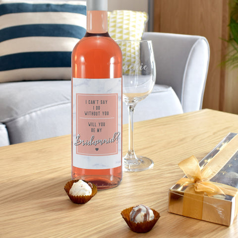 Personalised Can't Say I Do Without You Rosé Wine Gift Set