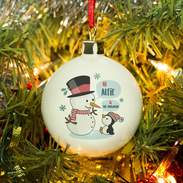 Mr Snowman Bauble