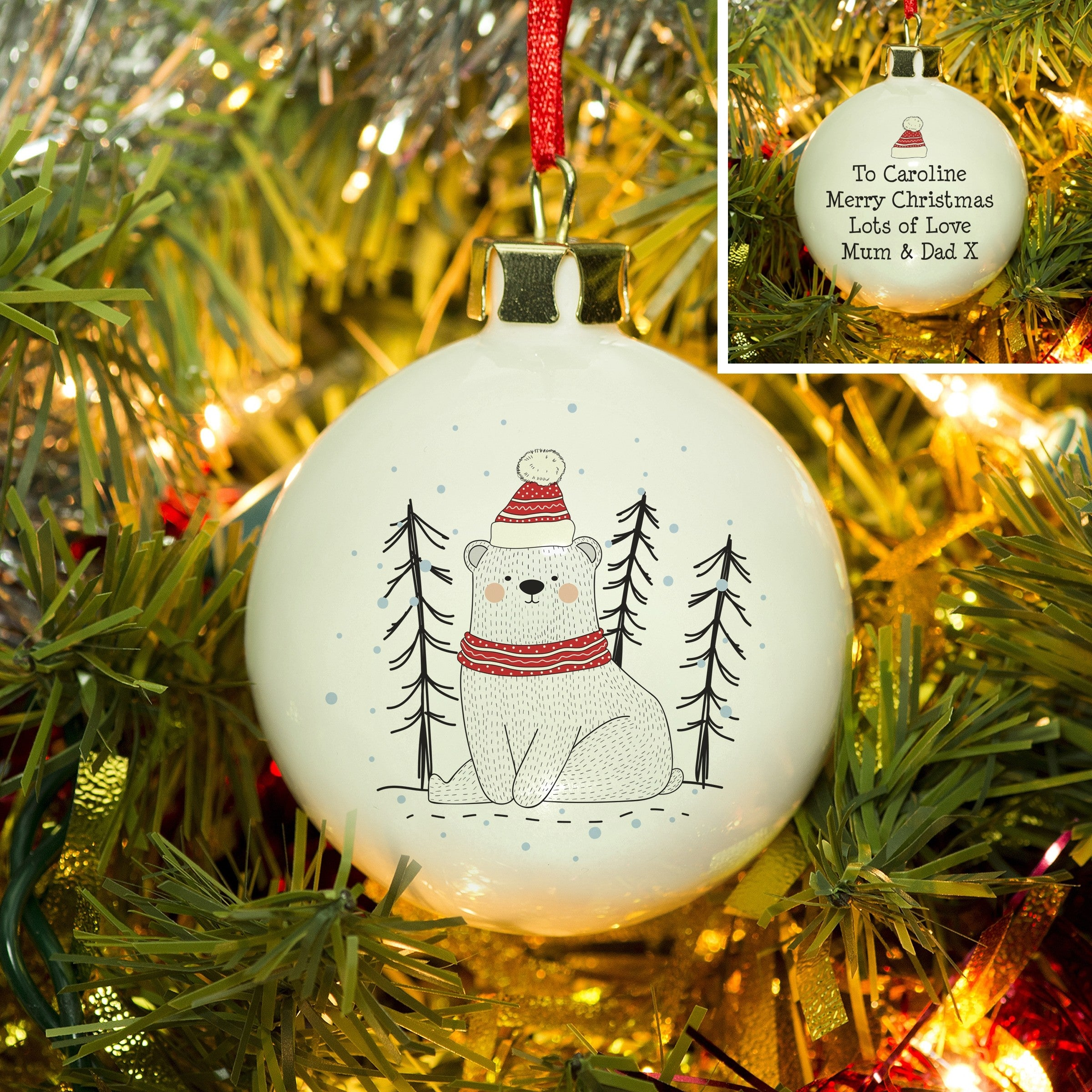 Christmas Bear Bauble, Toys & Games by Low Cost Gifts