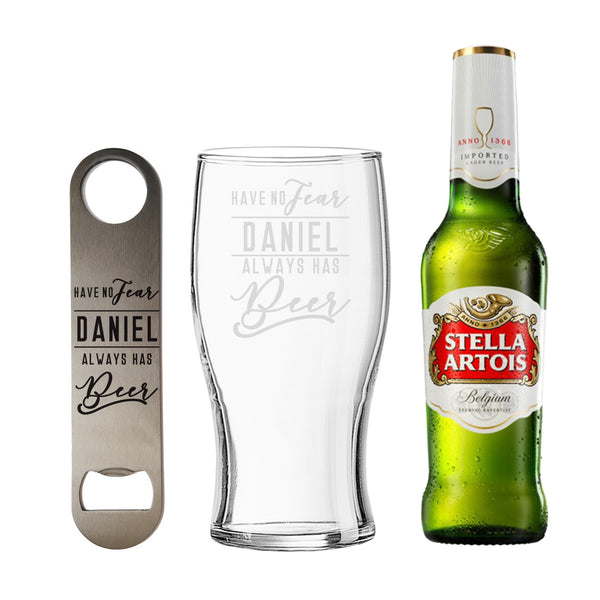 Personalised Have No Fear Stella Gift Set