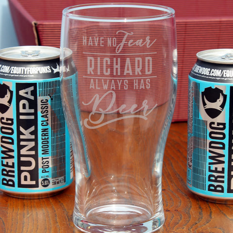 Personalised Have No Fear Brewdog Gift Set