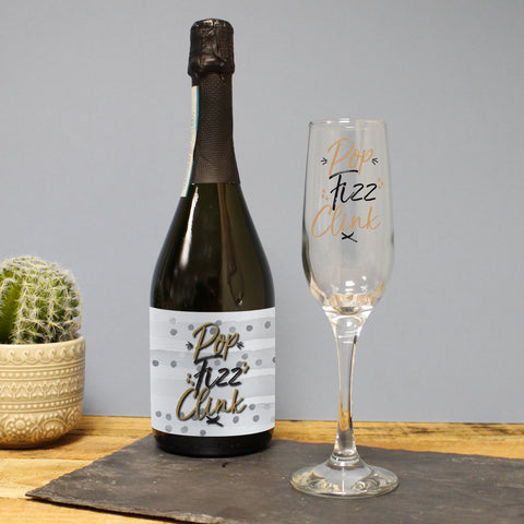 Personalised Pop, Fizz, Clink Prosecco Gift Set