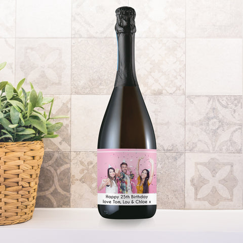 Personalised Photo Upload Bottle Of Prosecco