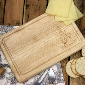 Wallace & Gromit 'Cheese Gromit' Rectangle Wooden Cheese Board