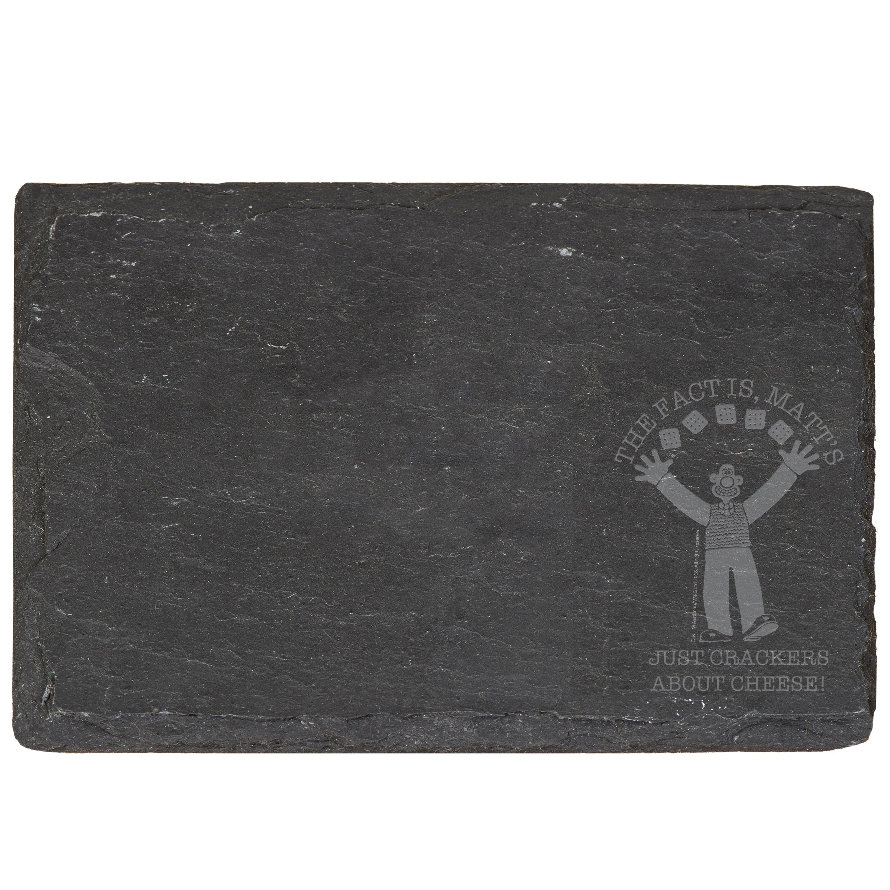 Wallace & Gromit Crackers About Cheese Slate Cheese Board, Cheese - Image 1