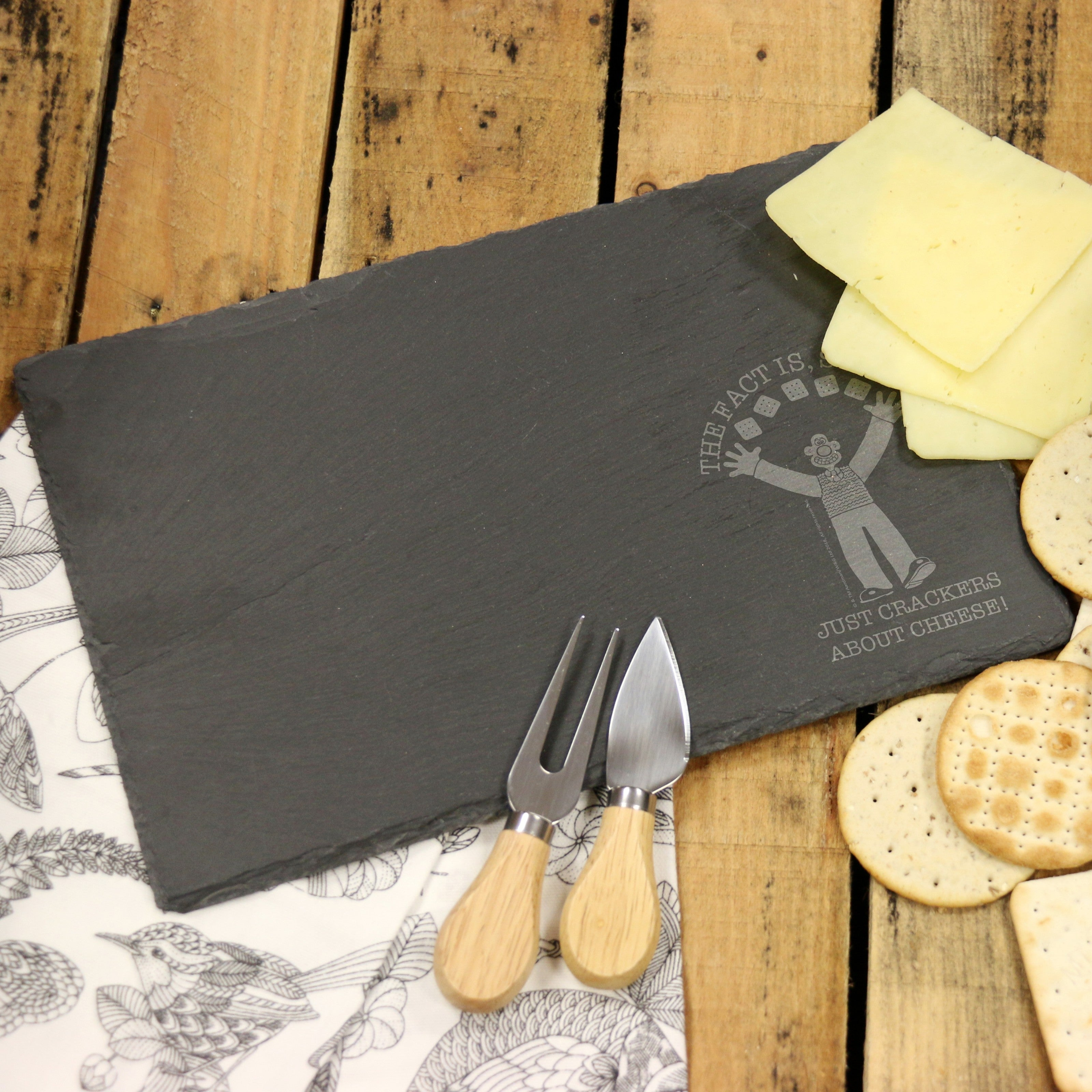 Wallace & Gromit Crackers About Cheese Slate Cheese Board, Cheese - Image 0