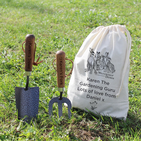 Personalised Watership Down Trowel and Fork Set