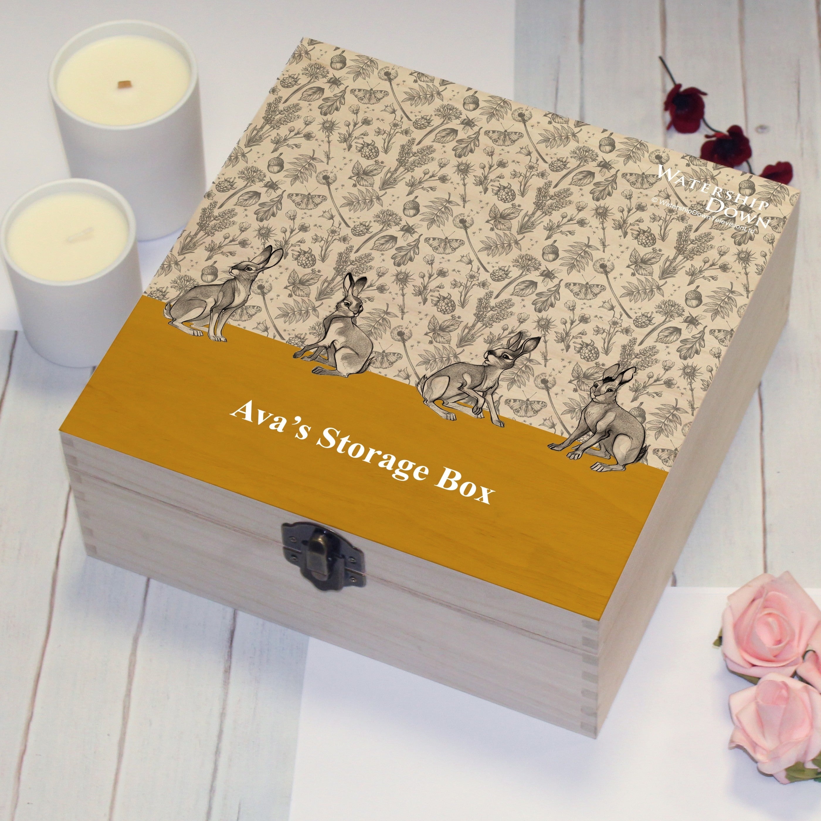 Watership Down Yellow Storage Box, Furniture by Low Cost Gifts