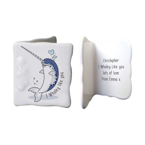 Personalised Whaley Like You Message Card