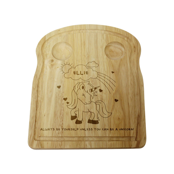 Personalised Unicorn Egg and Soldiers Board