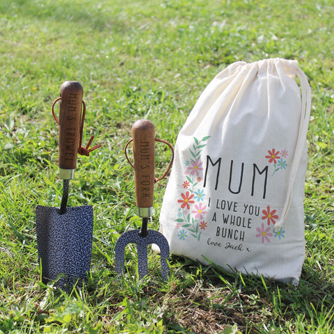 Personalised I Love You A Whole Bunch Gardening Set