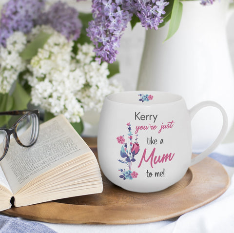 Personalised You're Just Like A Mum To Me Hug Mug