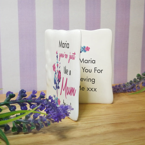 Personalised You're Just Like A Mum To Me Message card