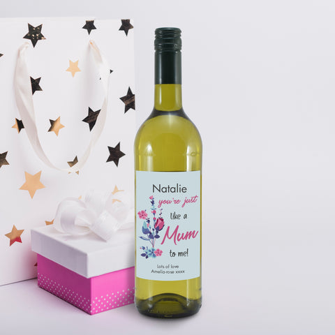 Personalised You're Just Like A Mum To Me White Wine