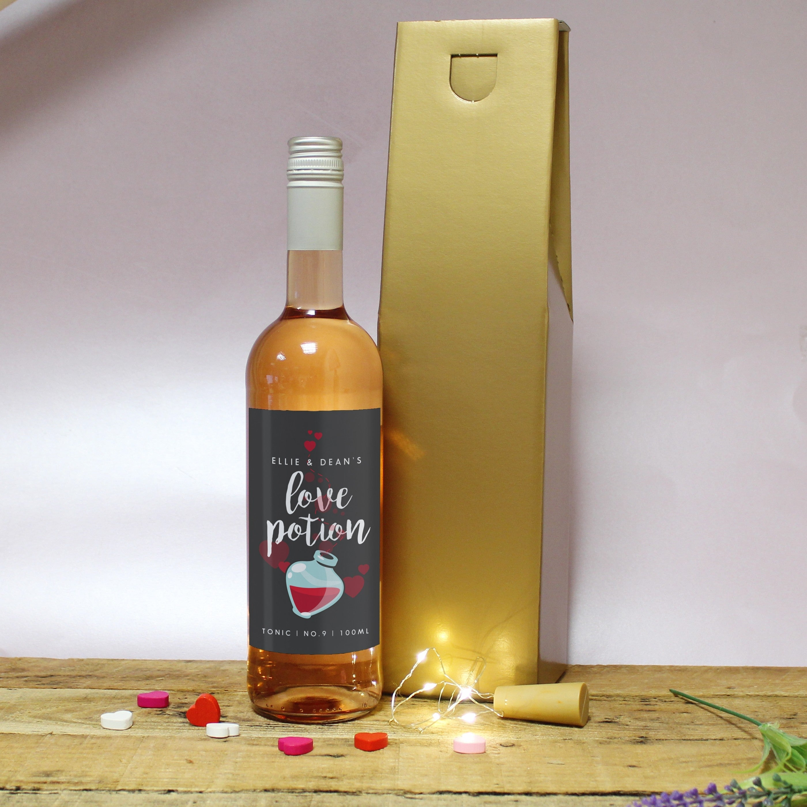 Black Love Potion Rose Wine Set, Alcoholic Beverages by Gifts24-7