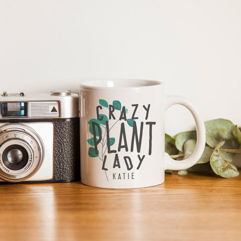Personalised Crazy Plant Lady Mug