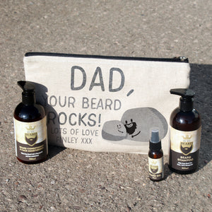 Personalised Your Beard Rocks Beard Kit