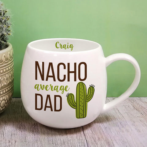 Personalised Nacho Average Dad Hug Mug