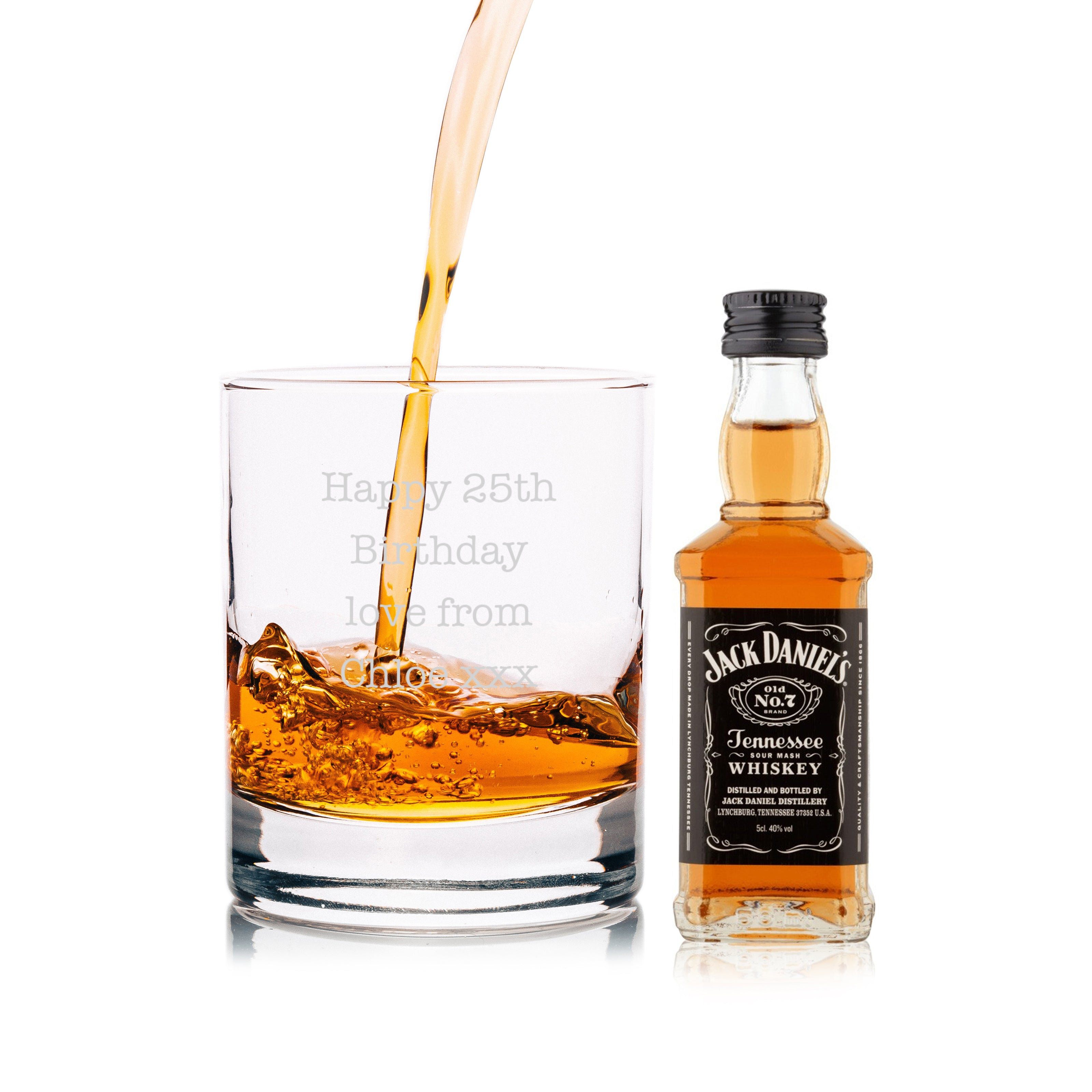 Personalised Jack Daniels Miniature & Tumbler Gift Set, Arts & Entertainment by Gifts24-7