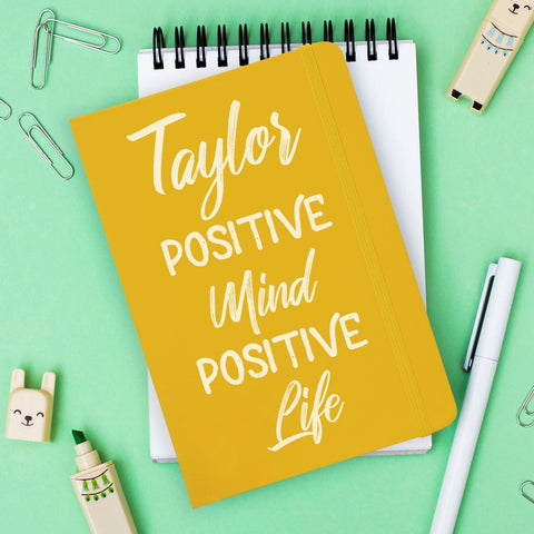 Positive Mind Positive Life A5 Yellow Notebook