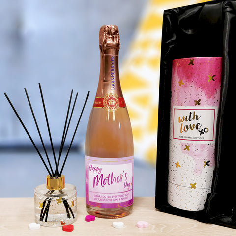 Personalised Gifts Personalised Mother's Day Prosecco & Reed Diffuser Gift Set