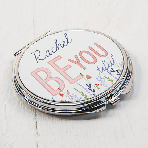 Personalised Gifts  Be-you-tiful Compact Mirror
