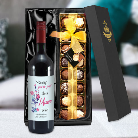 Mother's Day Gifts  Like A Mum To Me Red Wine & Truffles
