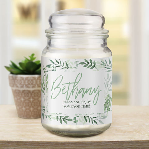 Personalised Gifts Floral Candle Jar