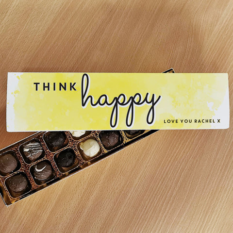 Personalised Gifts Think Happy Handmade Truffles