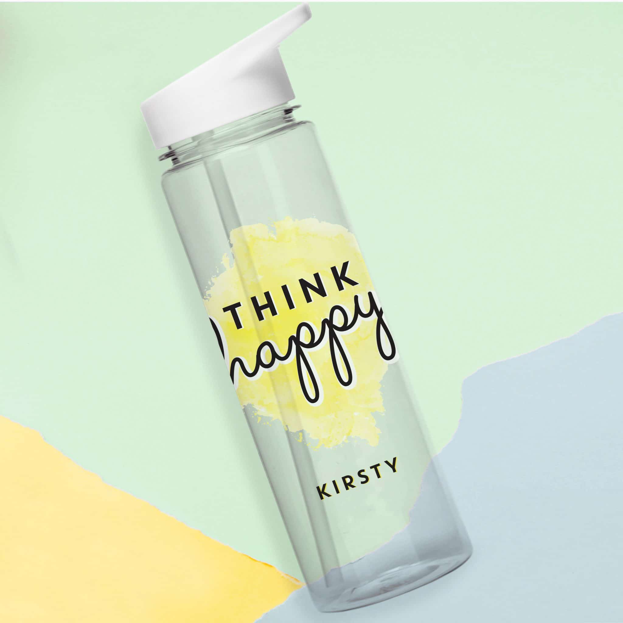 Think Happy Water Bottle, Home & Garden by Low Cost Gifts