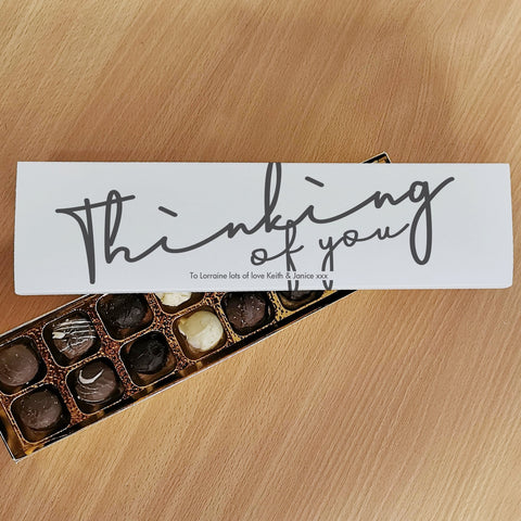 Personalised Gifts Thinking Of You Handmade Truffles