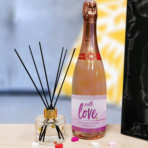 Personalised With Love Sparkling Rosé & Reed Diffuser Gift Set