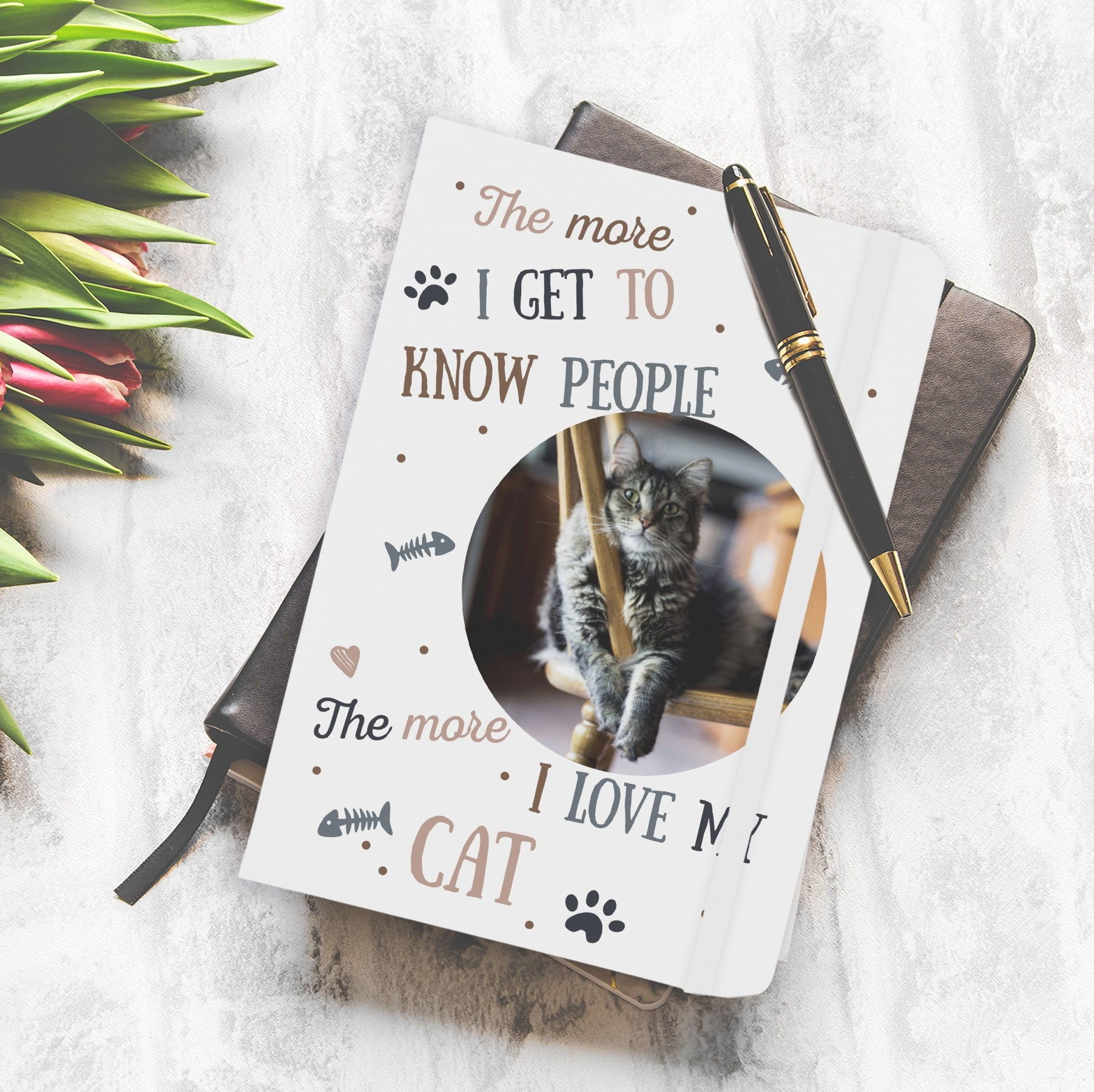 I Love My Cat Photo Upload Notebook, Office Supplies by Low Cost Gifts