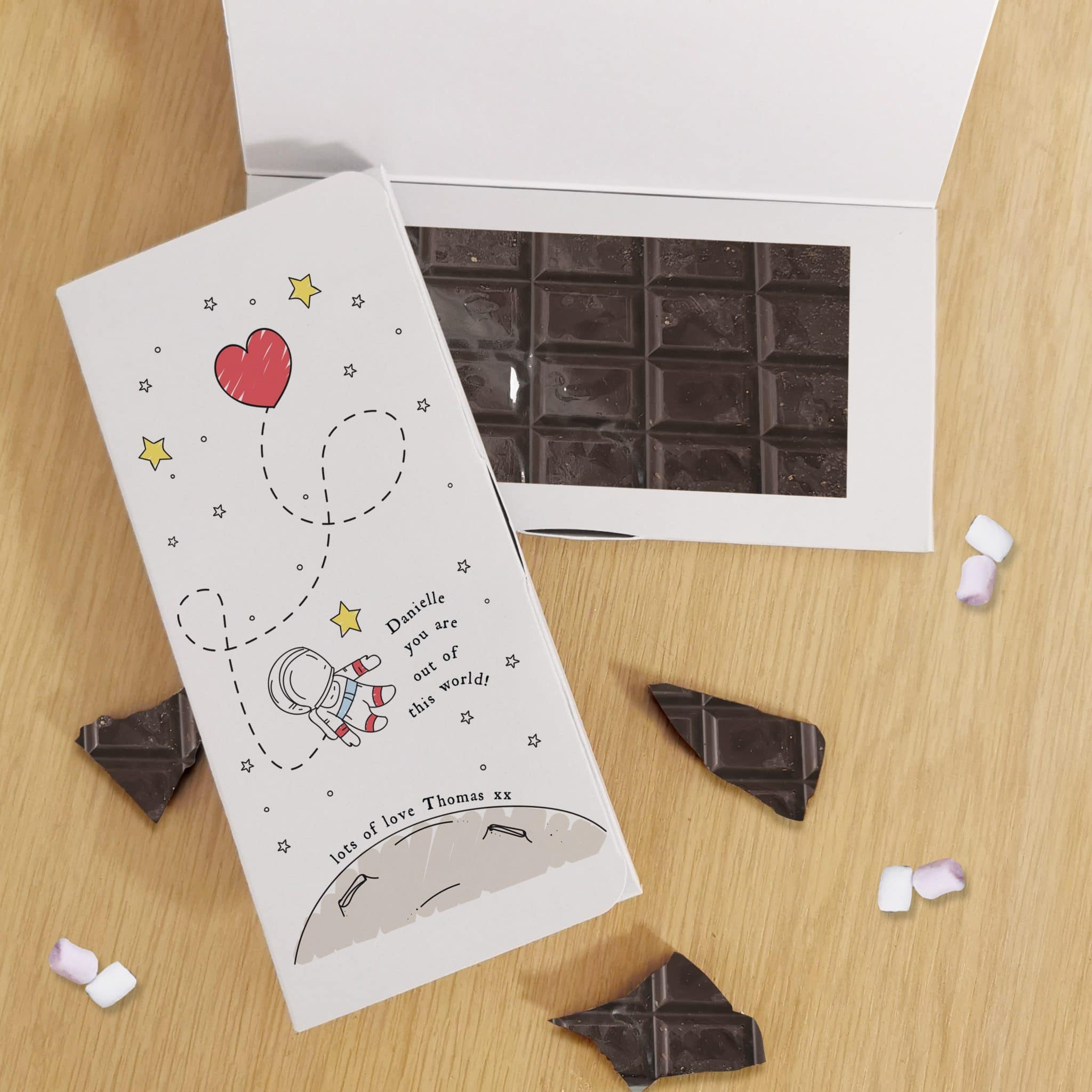 Out Of This World Dark Chocolate Card, Food Items by Low Cost Gifts