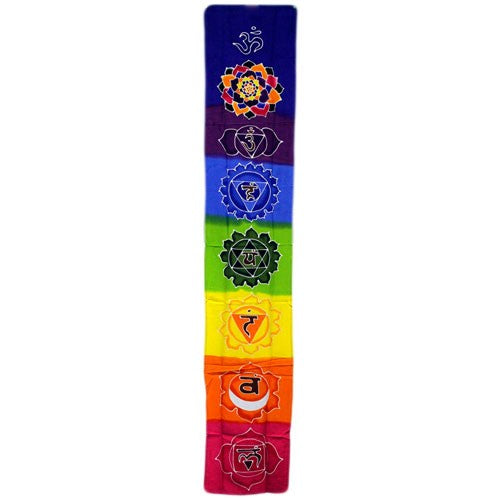 Chakra Drop Banner - Rainbow 183x35cm, Party Supplies by Low Cost Gifts