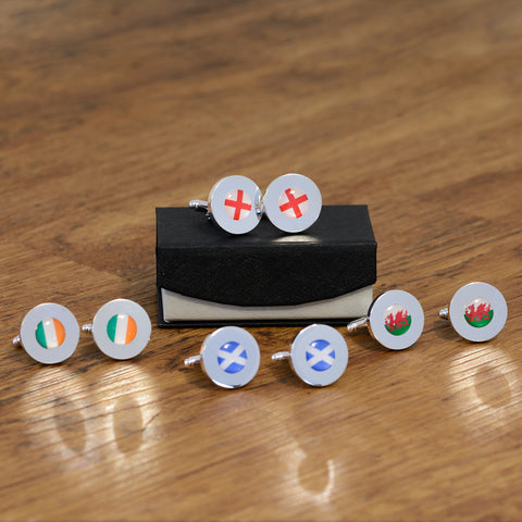 Personalised Flag Cufflinks - Choose one of five flag designs