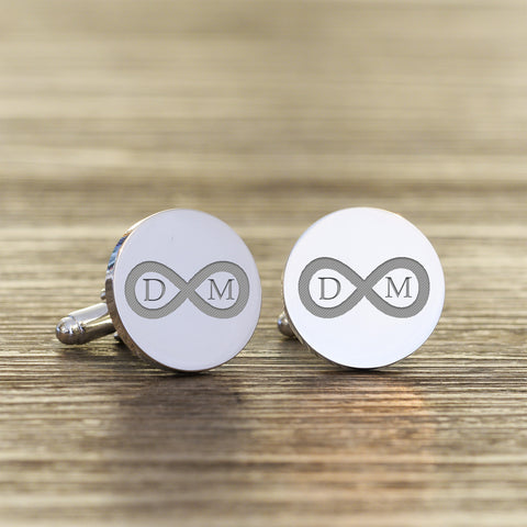 Personalised Infinity Initials Cufflinks | Gifts24-7.co.uk
