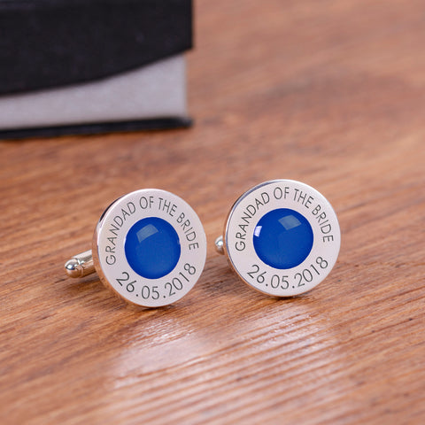 Wedding Party Silverplated Cufflinks - Royal Blue | ShaneToddGifts.co.uk