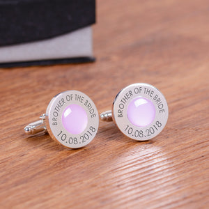 Wedding Party Silverplated Cufflinks - Lilac | Gifts24-7.co.uk